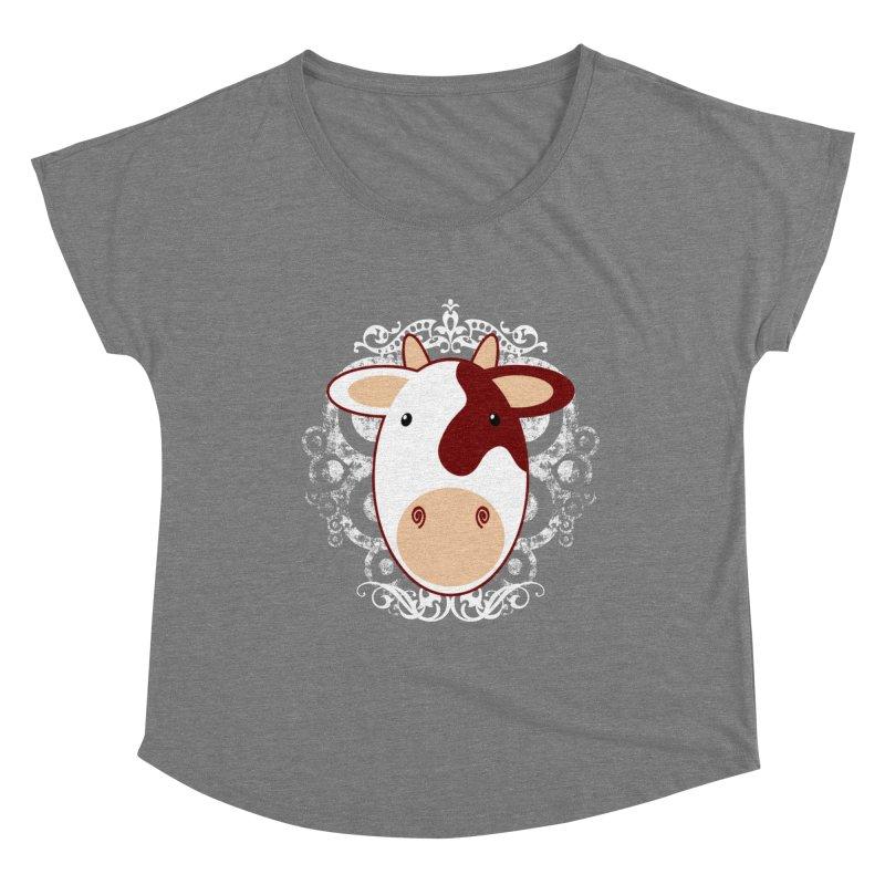 Cowwy Women's Scoop Neck by Ideacrylic Shop