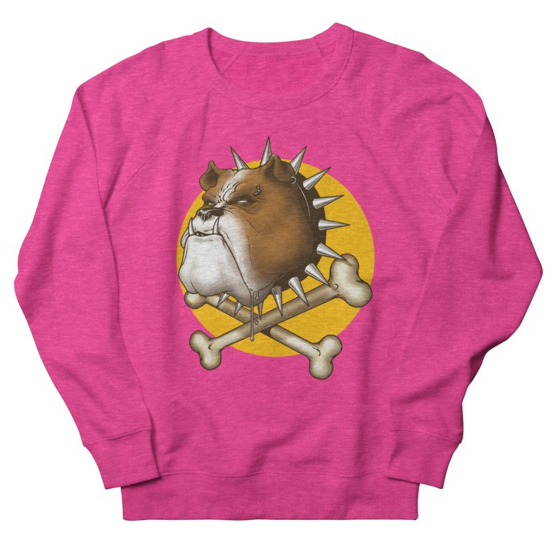Mad Dog Women's French Terry Sweatshirt by Ideacrylic Shop