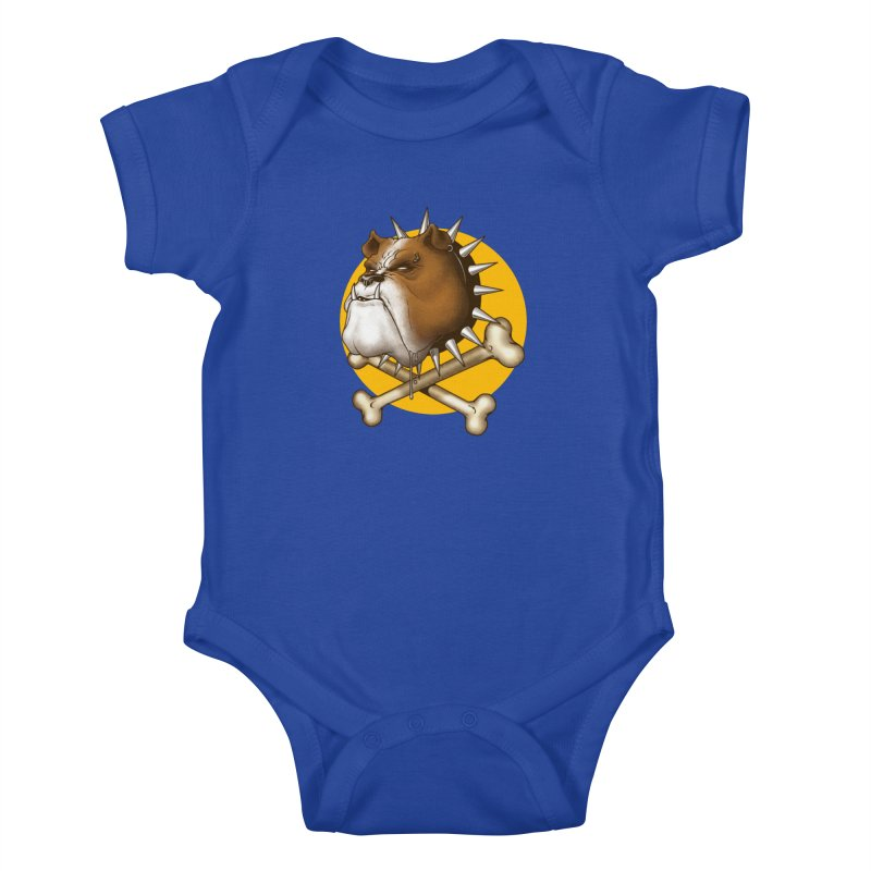 Mad Dog Kids Baby Bodysuit by Ideacrylic Shop