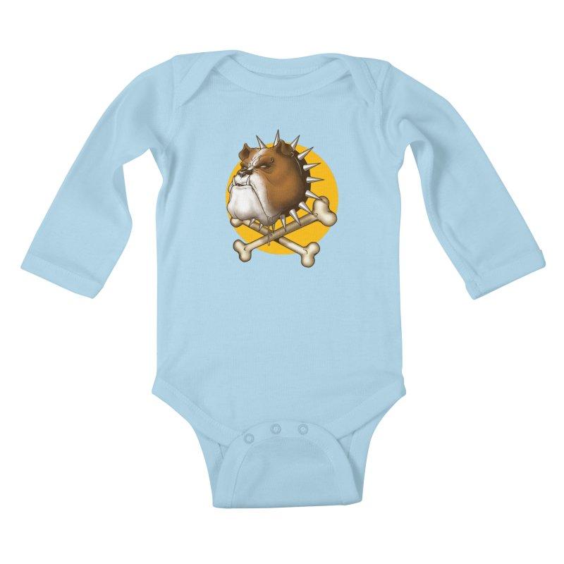 Mad Dog Kids Baby Longsleeve Bodysuit by Ideacrylic Shop