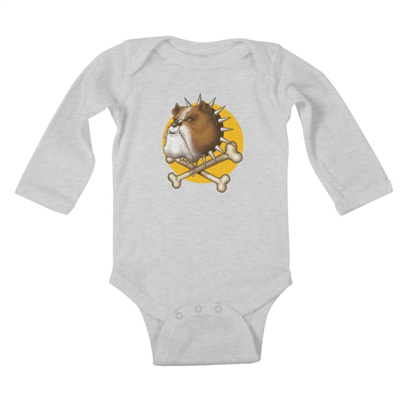 Mad Dog Kids Baby Longsleeve Bodysuit by Ideacrylic Shop
