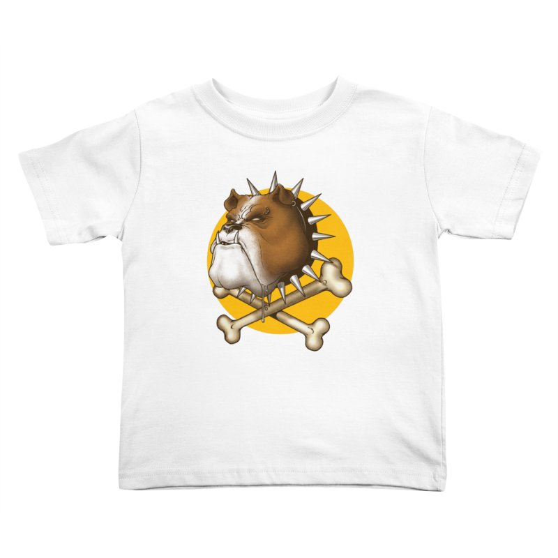 Mad Dog Kids Toddler T-Shirt by Ideacrylic Shop
