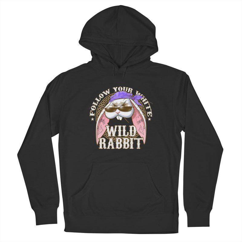 Wild Rabbit Men's French Terry Pullover Hoody by Ideacrylic Shop