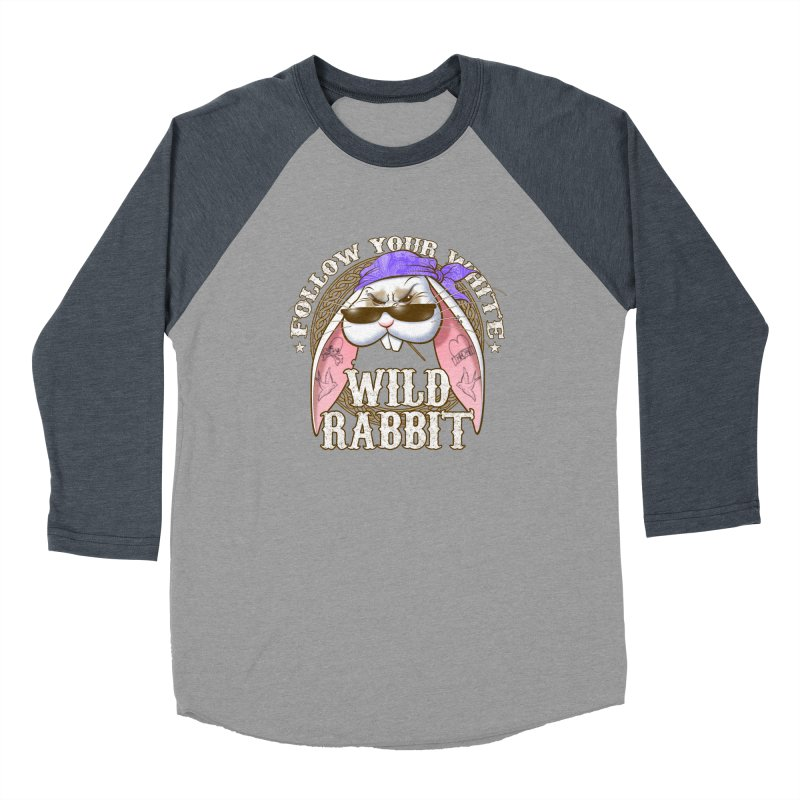 Wild Rabbit Women's Baseball Triblend Longsleeve T-Shirt by Ideacrylic Shop