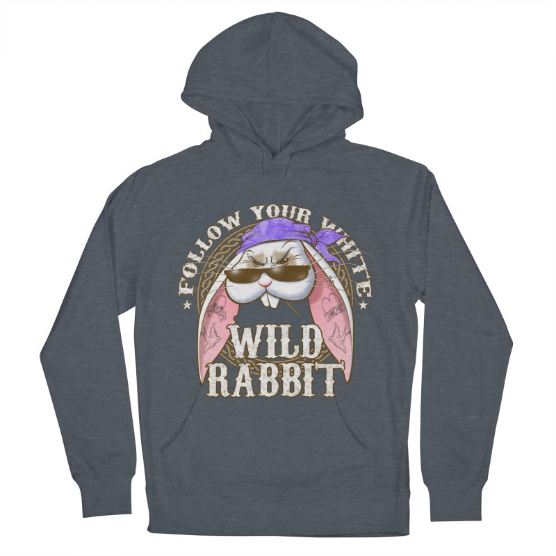 Wild Rabbit Women's French Terry Pullover Hoody by Ideacrylic Shop