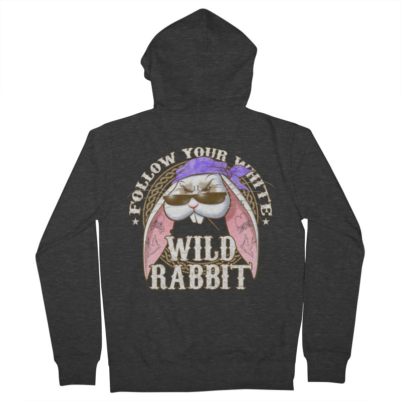 Wild Rabbit Women's French Terry Zip-Up Hoody by Ideacrylic Shop