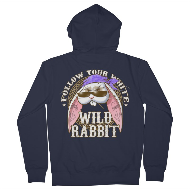 Wild Rabbit Men's French Terry Zip-Up Hoody by Ideacrylic Shop