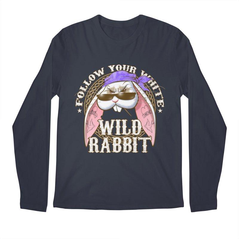 Wild Rabbit Men's Regular Longsleeve T-Shirt by Ideacrylic Shop