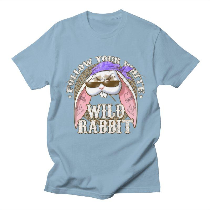 Wild Rabbit Men's Regular T-Shirt by Ideacrylic Shop