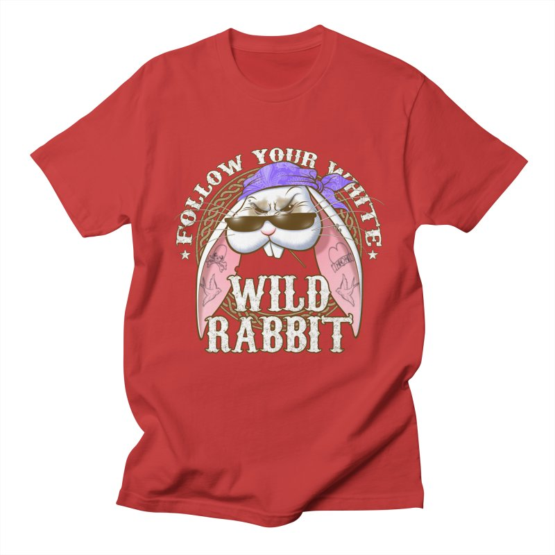 Wild Rabbit Men's Regular T-Shirt by Ideacrylic Shop