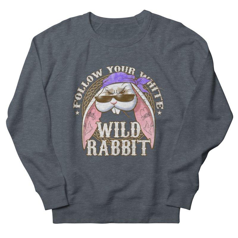 Wild Rabbit Men's French Terry Sweatshirt by Ideacrylic Shop