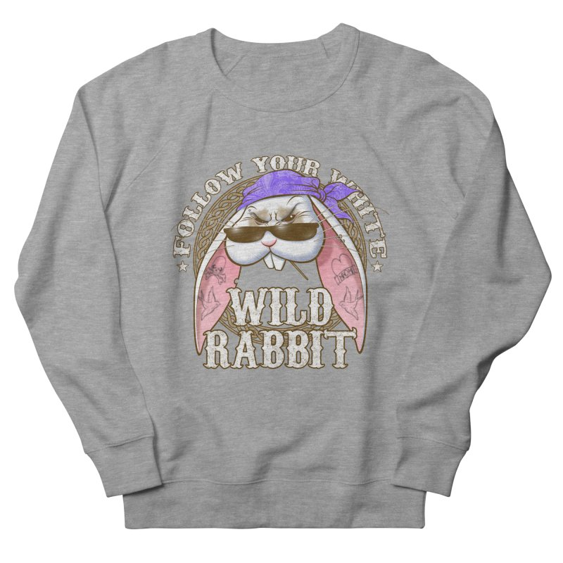 Wild Rabbit Men's French Terry Sweatshirt by Ideacrylic Shop