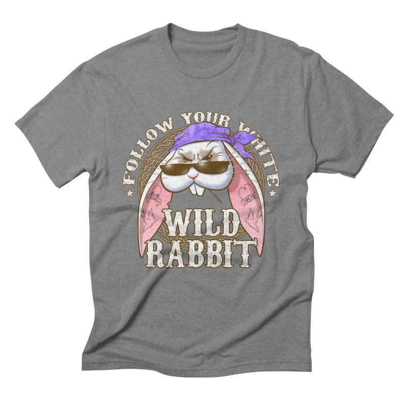 Wild Rabbit Men's Triblend T-Shirt by Ideacrylic Shop