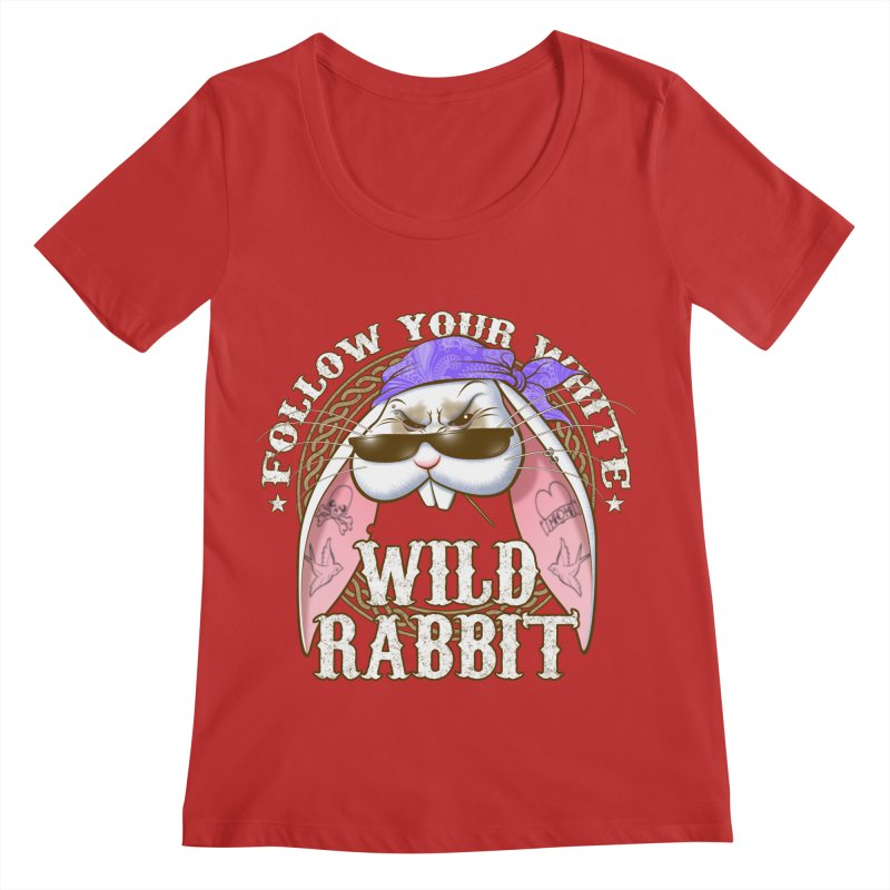 Wild Rabbit Women's Scoop Neck by Ideacrylic Shop