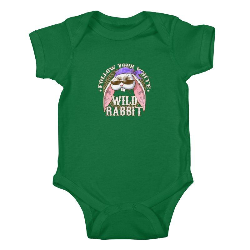 Wild Rabbit Kids Baby Bodysuit by Ideacrylic Shop
