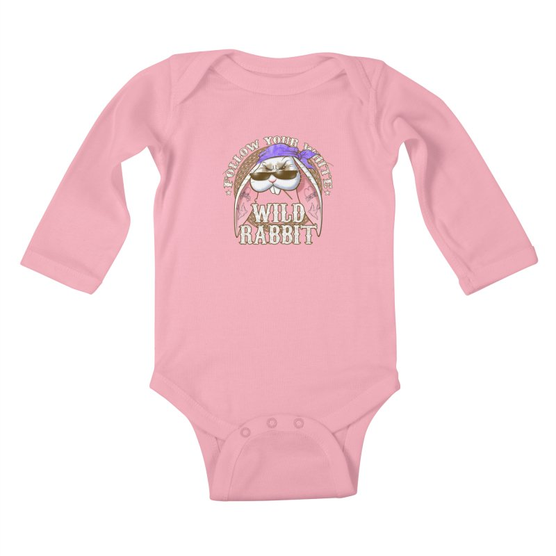 Wild Rabbit Kids Baby Longsleeve Bodysuit by Ideacrylic Shop