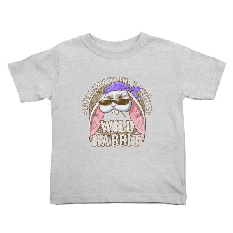 Wild Rabbit Kids Toddler T-Shirt by Ideacrylic Shop