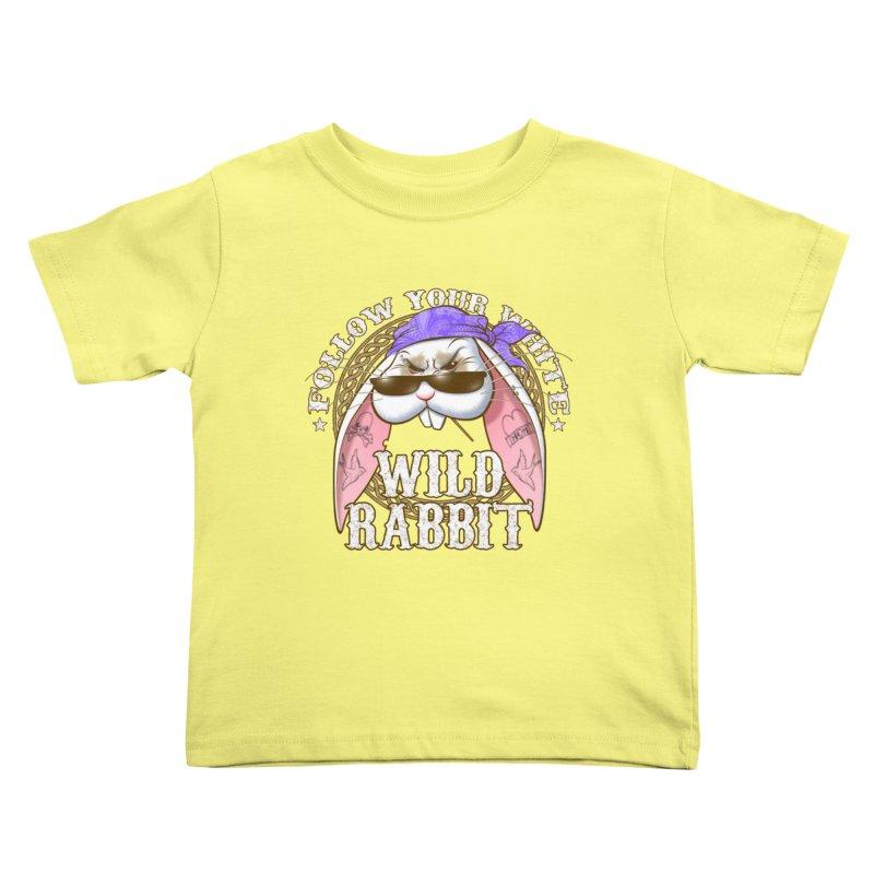 Wild Rabbit Kids Toddler T-Shirt by Ideacrylic Shop