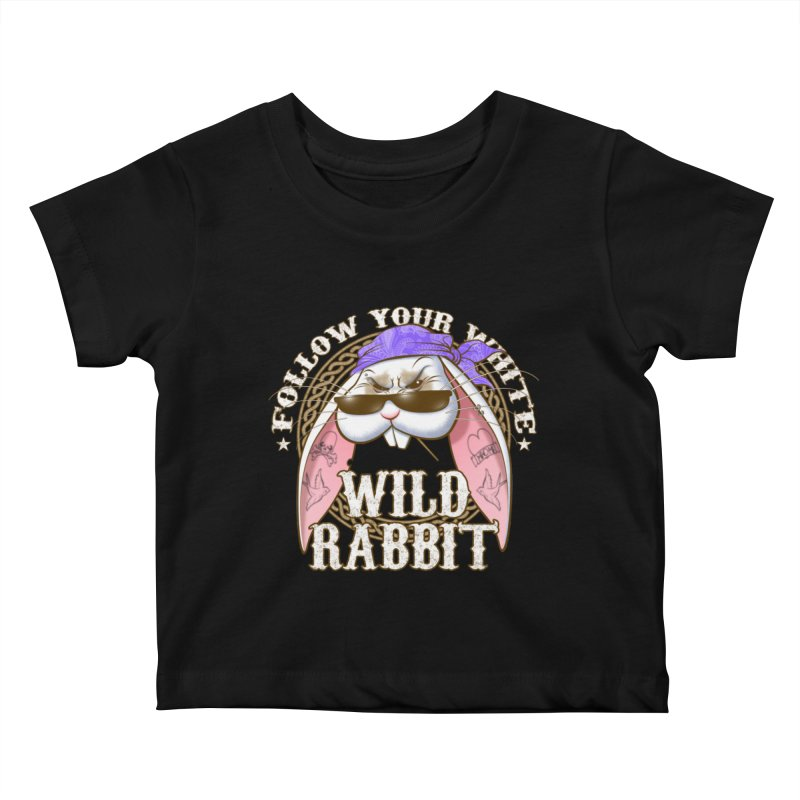 Wild Rabbit Kids Baby T-Shirt by Ideacrylic Shop
