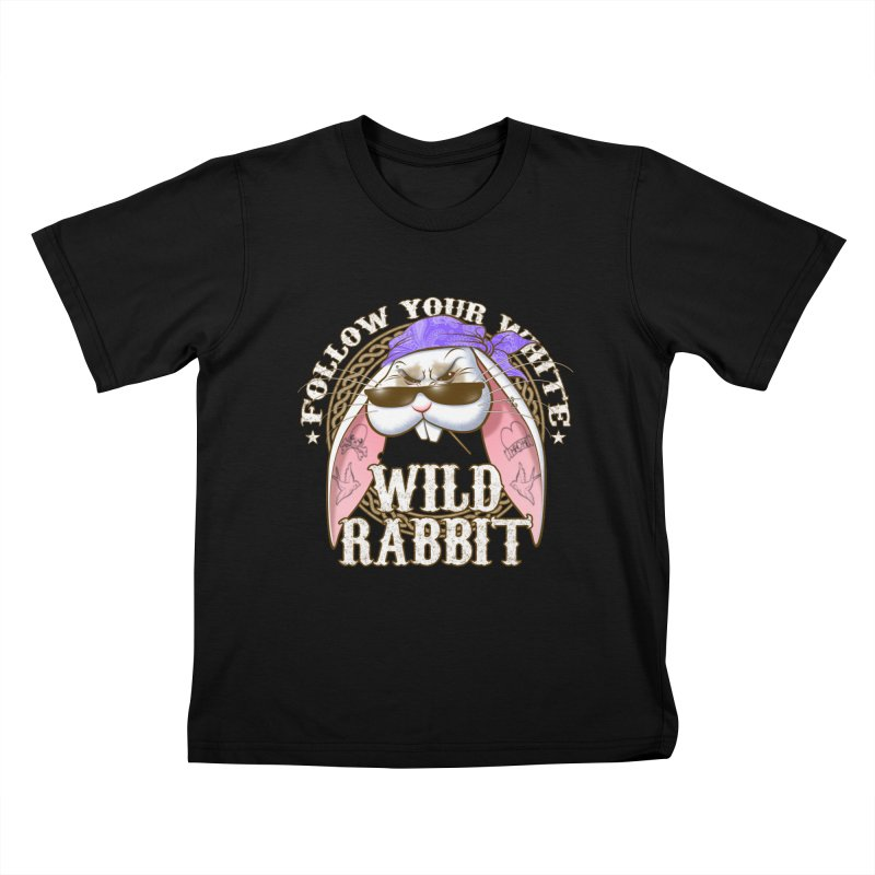 Wild Rabbit Kids T-Shirt by Ideacrylic Shop