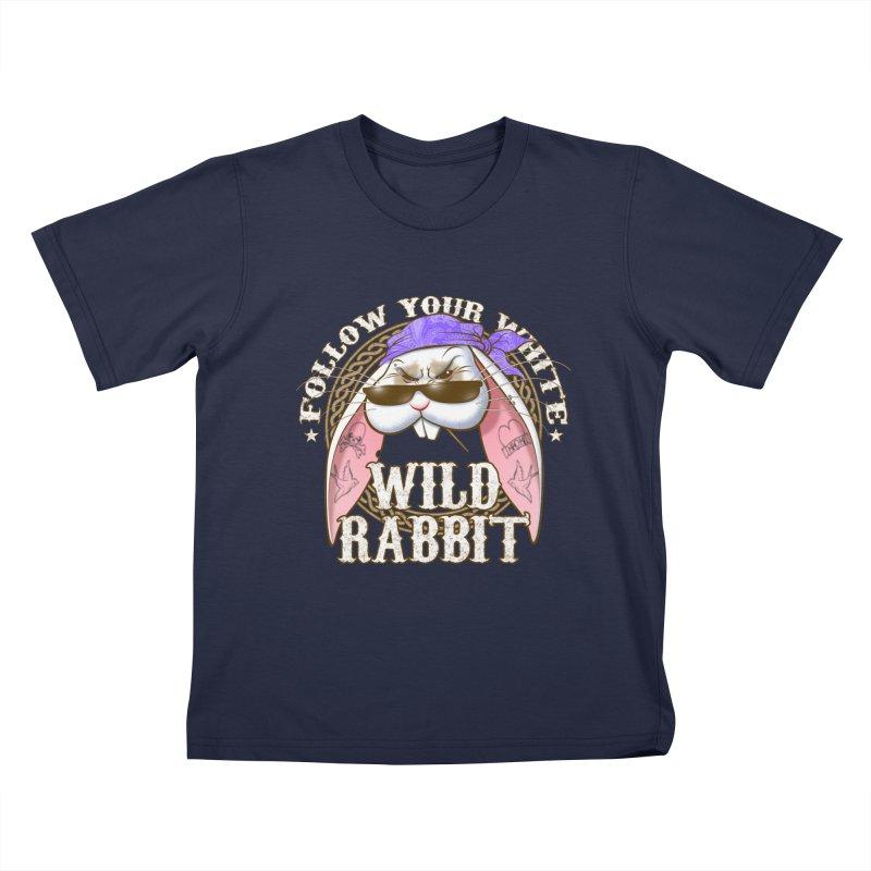 Wild Rabbit Kids T-Shirt by Ideacrylic Shop