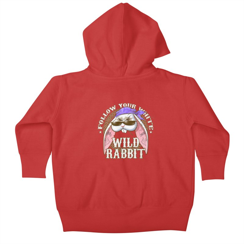 Wild Rabbit Kids Baby Zip-Up Hoody by Ideacrylic Shop