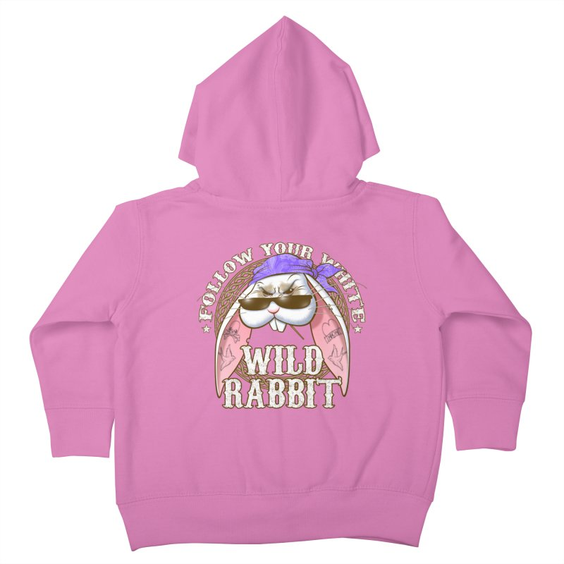 Wild Rabbit Kids Toddler Zip-Up Hoody by Ideacrylic Shop