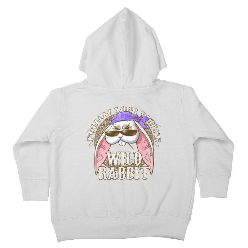 Wild Rabbit Kids Toddler Zip-Up Hoody by Ideacrylic Shop