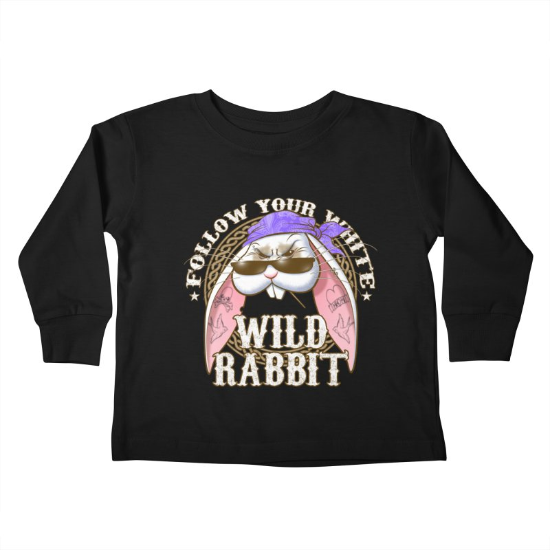 Wild Rabbit Kids Toddler Longsleeve T-Shirt by Ideacrylic Shop