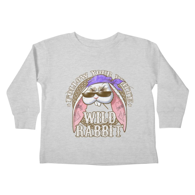 Wild Rabbit Kids Toddler Longsleeve T-Shirt by Ideacrylic Shop