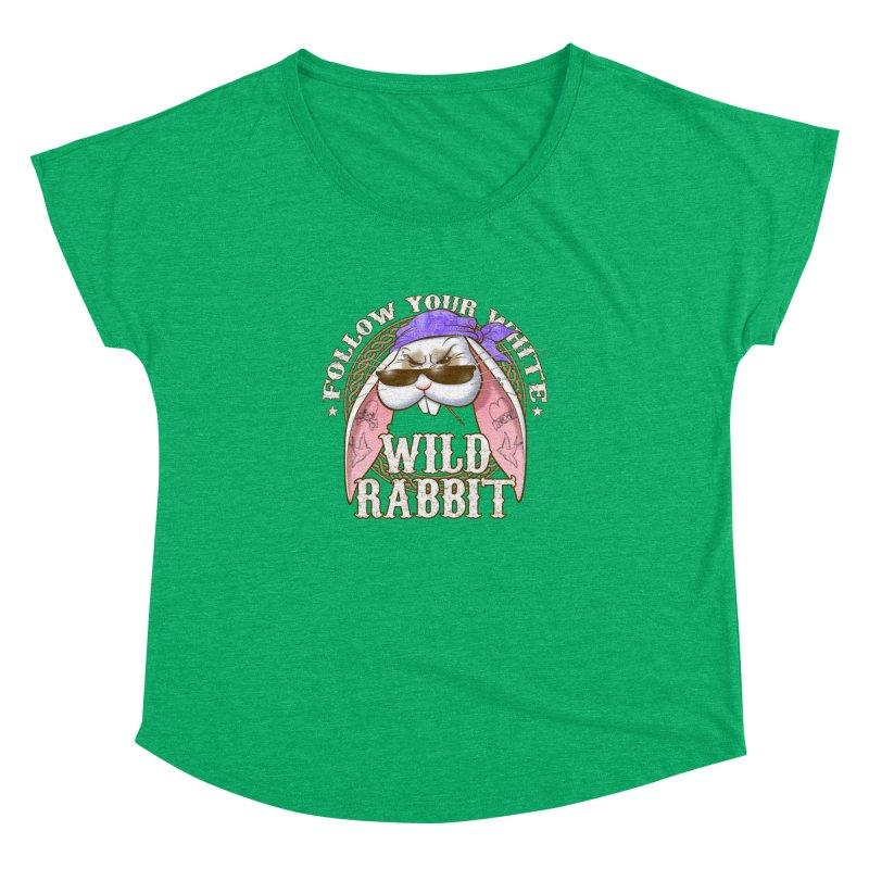 Wild Rabbit Women's Dolman Scoop Neck by Ideacrylic Shop
