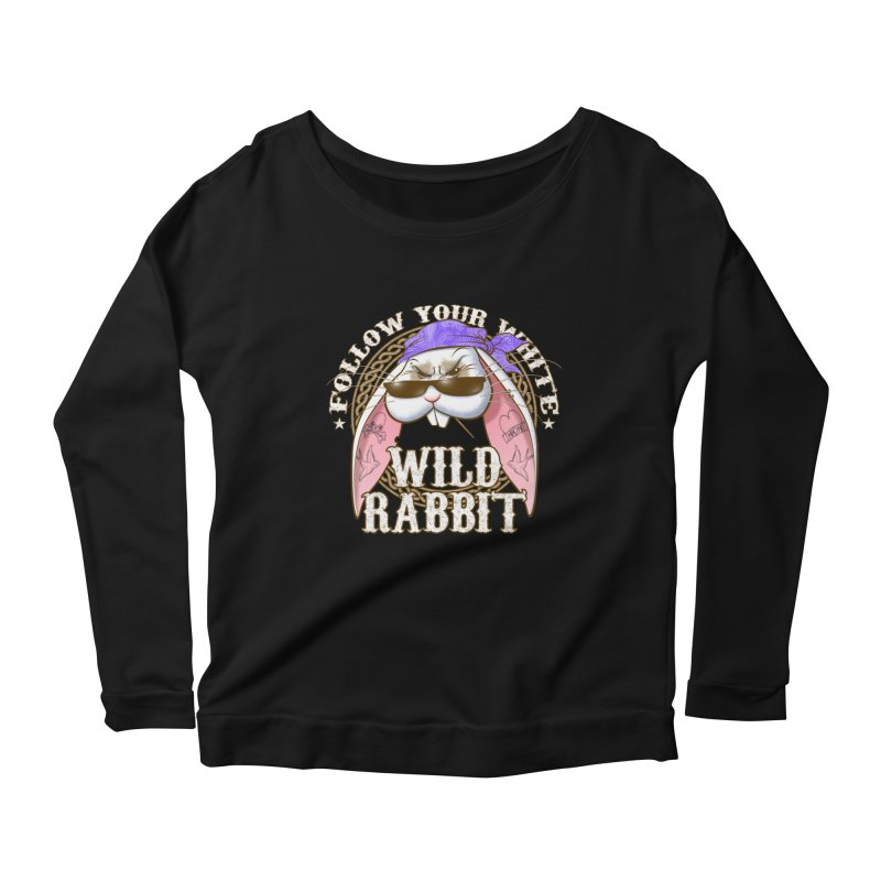 Wild Rabbit Women's Scoop Neck Longsleeve T-Shirt by Ideacrylic Shop