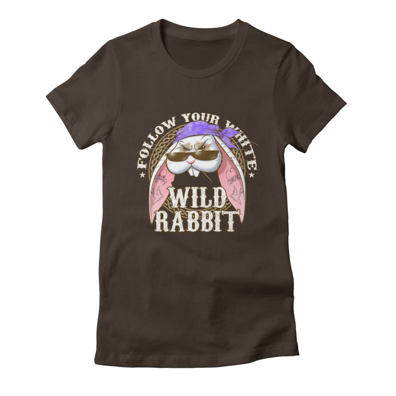 Wild Rabbit Women's Fitted T-Shirt by Ideacrylic Shop