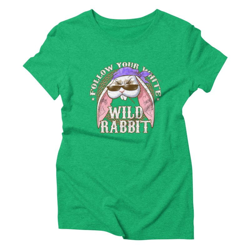 Wild Rabbit Women's Triblend T-Shirt by Ideacrylic Shop