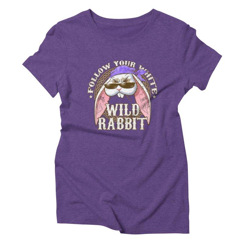 Wild Rabbit Women's Triblend T-Shirt by Ideacrylic Shop