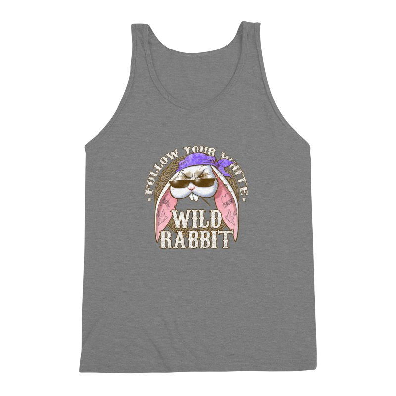Wild Rabbit Men's Triblend Tank by Ideacrylic Shop
