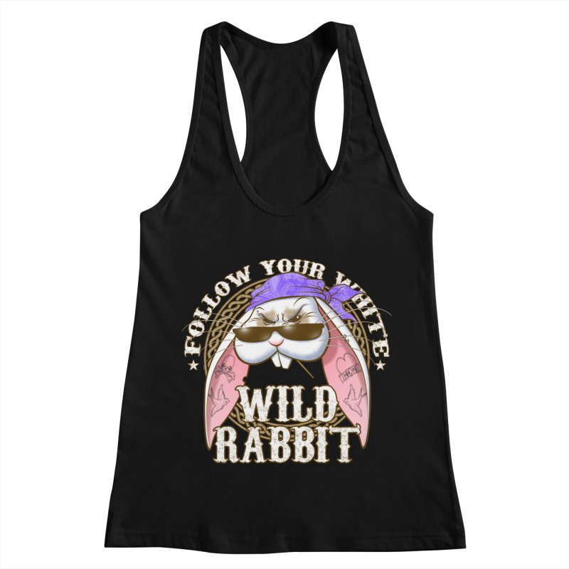 Wild Rabbit Women's Racerback Tank by Ideacrylic Shop
