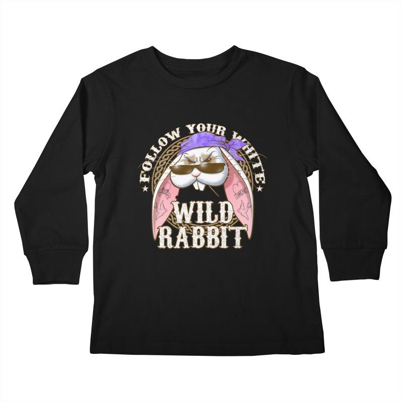 Wild Rabbit Kids Longsleeve T-Shirt by Ideacrylic Shop