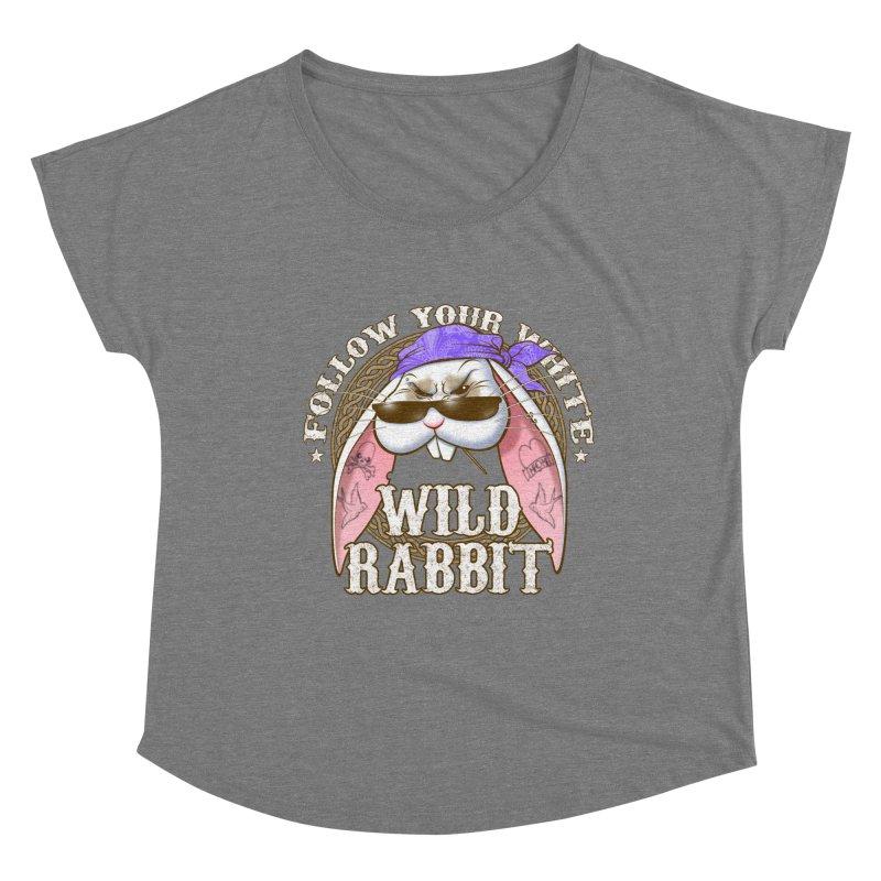 Wild Rabbit Women's Scoop Neck by Ideacrylic Shop