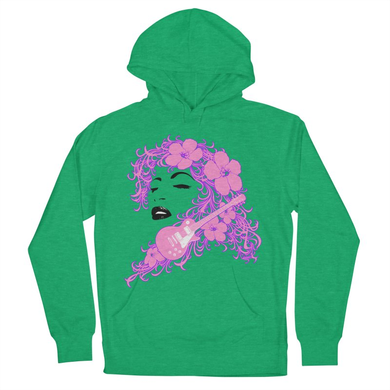 Lady Flo Men's French Terry Pullover Hoody by Ideacrylic Shop