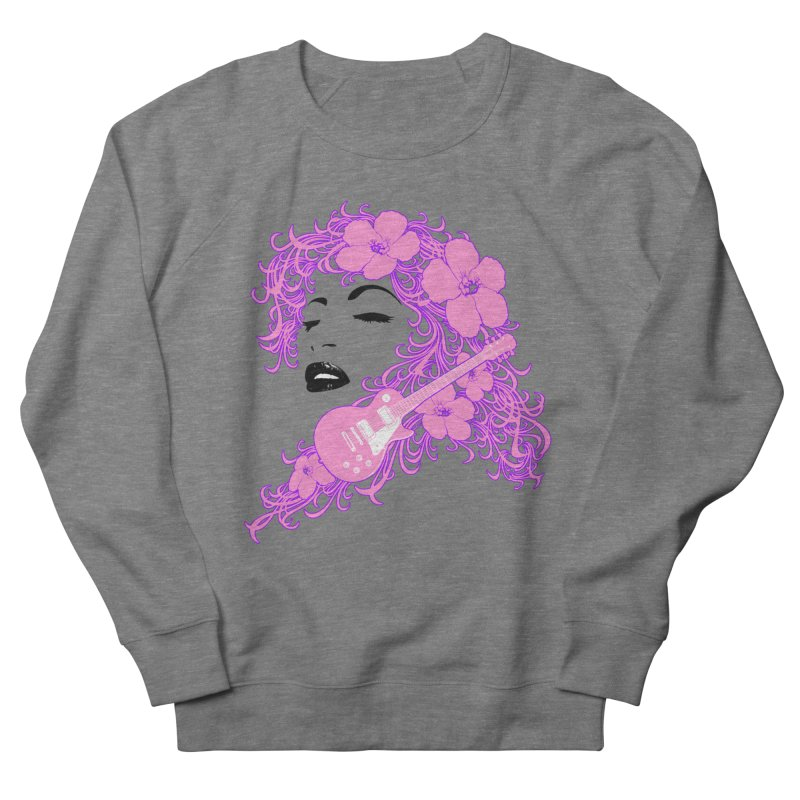 Lady Flo Men's French Terry Sweatshirt by Ideacrylic Shop