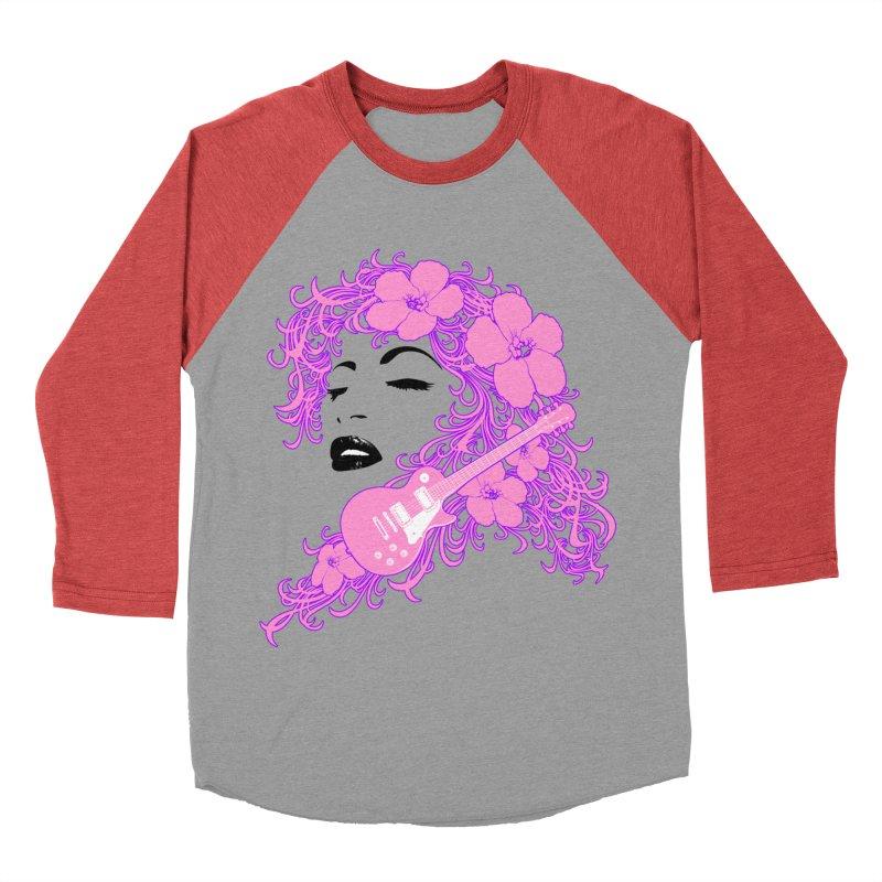 Lady Flo Women's Baseball Triblend Longsleeve T-Shirt by Ideacrylic Shop