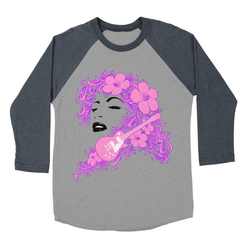 Lady Flo Men's Baseball Triblend Longsleeve T-Shirt by Ideacrylic Shop