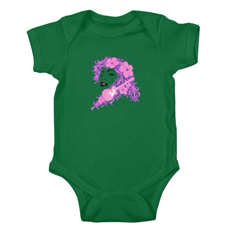 Lady Flo Kids Baby Bodysuit by Ideacrylic Shop