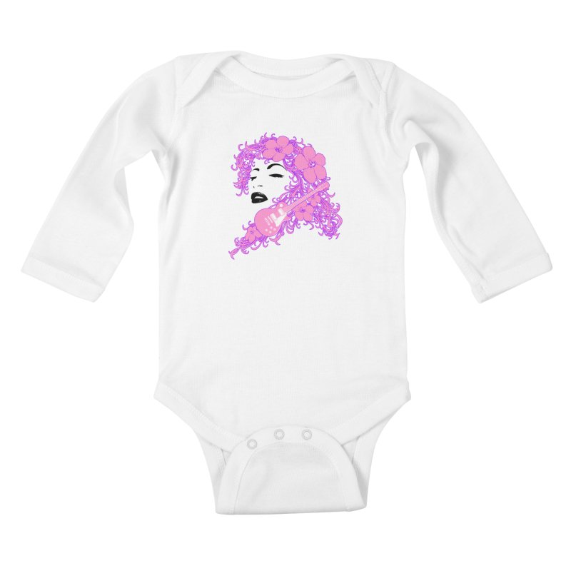 Lady Flo Kids Baby Longsleeve Bodysuit by Ideacrylic Shop