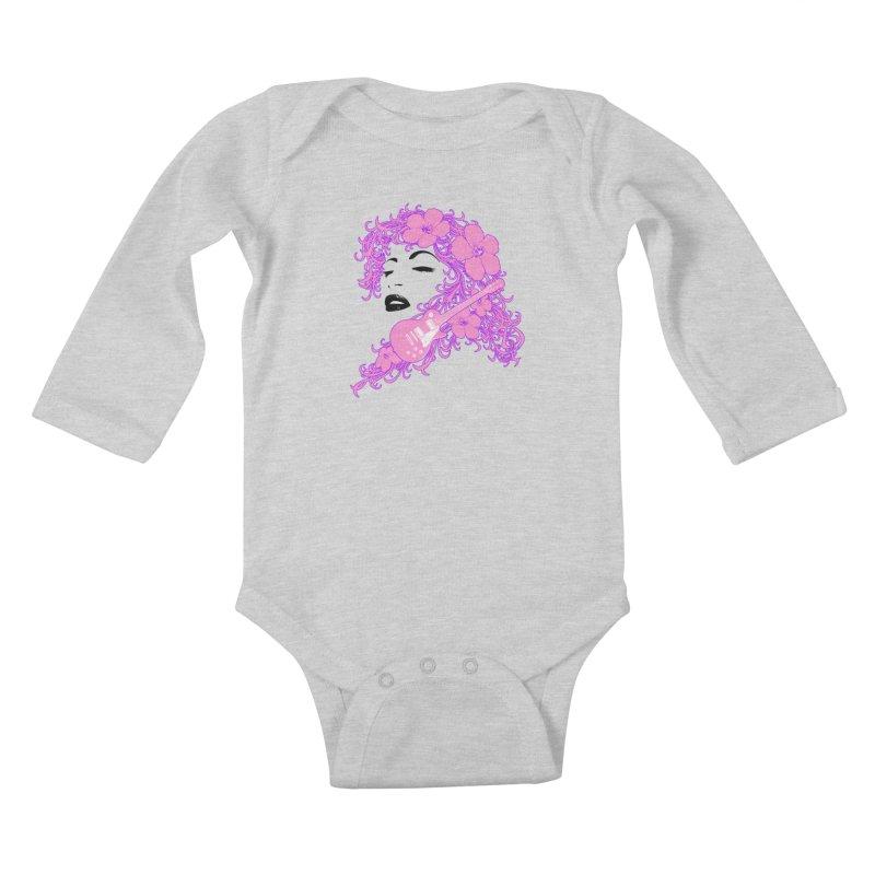 Lady Flo Kids Baby Longsleeve Bodysuit by Ideacrylic Shop