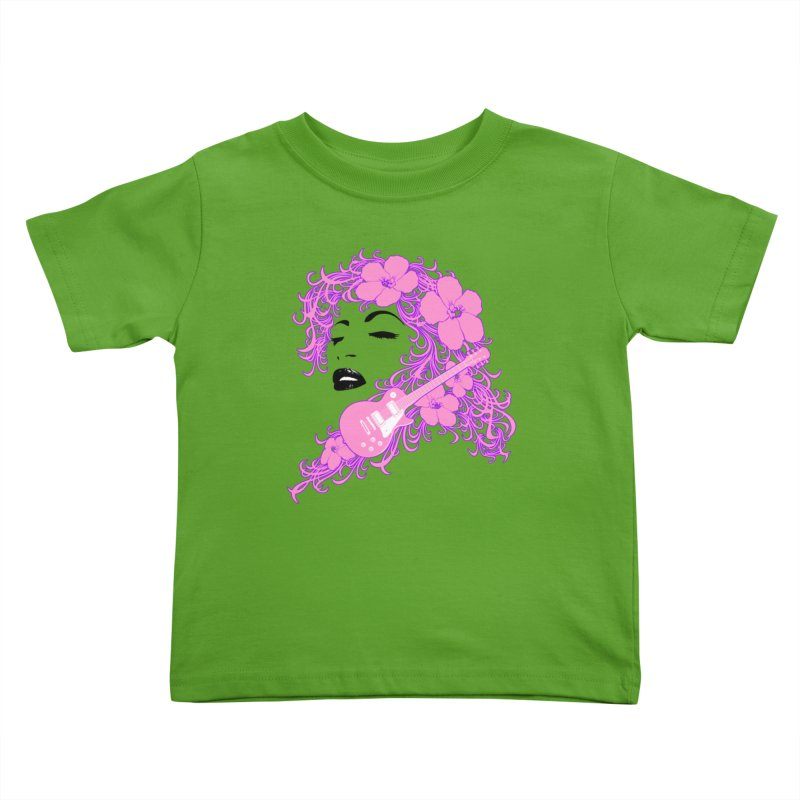 Lady Flo Kids Toddler T-Shirt by Ideacrylic Shop
