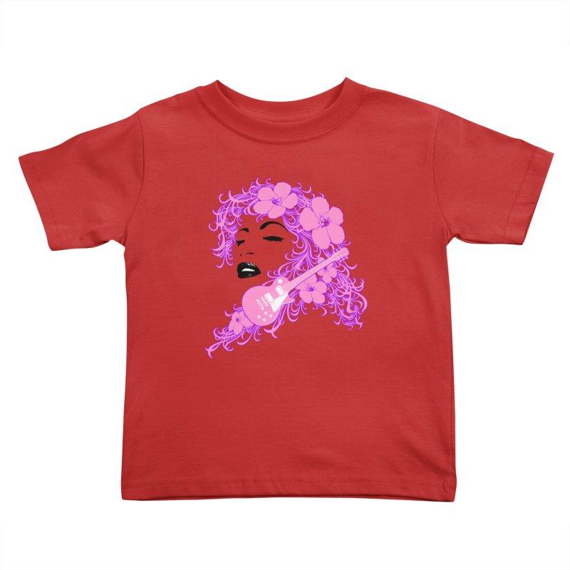 Lady Flo Kids Toddler T-Shirt by Ideacrylic Shop