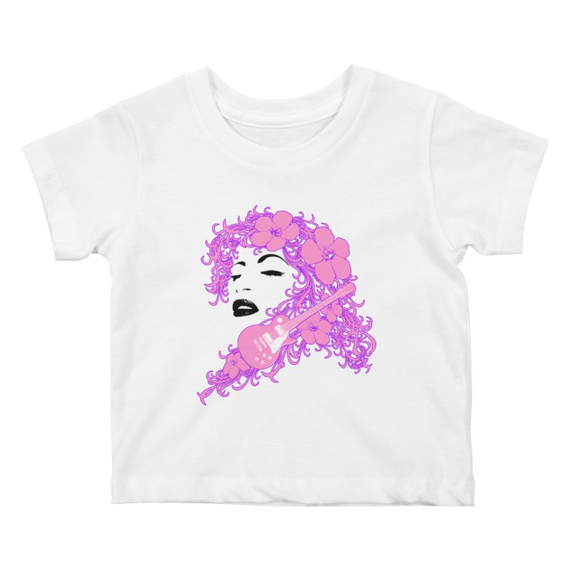Lady Flo Kids Baby T-Shirt by Ideacrylic Shop