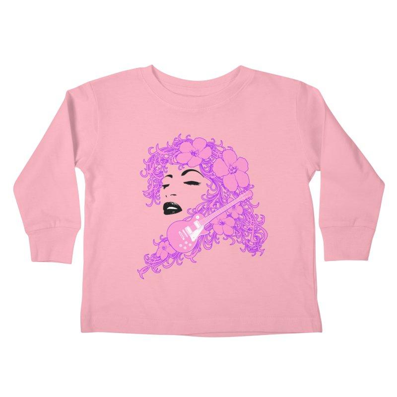 Lady Flo Kids Toddler Longsleeve T-Shirt by Ideacrylic Shop